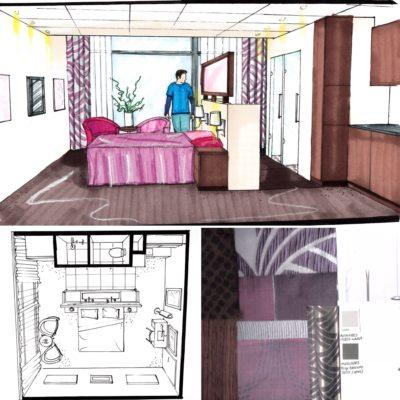 Interieurontwerp kamers zorghotel de Palatijn Alkmaar