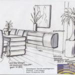 ontwerp Dressior en tafel