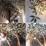 plafond-muurschildering jongenskamer amsterdam
