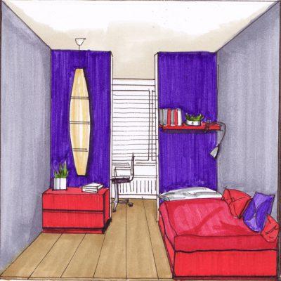 Interieurontwerp Entrepotdok Amsterdam slaapkamer ontwerp