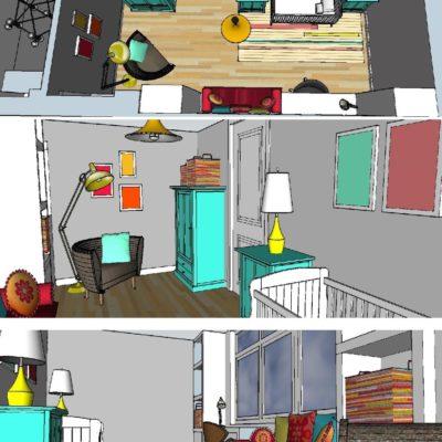 Interieurontwerp kinderkamer Middelburg Zeeland door LINDESIGN