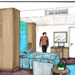 interieur ontwerp hotelkamer
