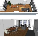 3 D visualisatie woonkamer
