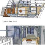 interieurontwerp zolder verdieping IDEE 2 Spuistraat Amsterdam door LINDESIGN