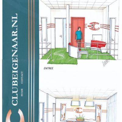 Interieur ontwerp kantoor de Clubeigenaar Amersfoort