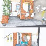 interieur ontwerp studenten slaapkamer nieuwbouwhuis te Purmerend