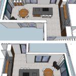 keuken indeling definitief 3D Lelystad