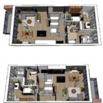 Plattegrond definitief appartement project En Bloc Houthavens Amsterdam