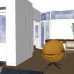 nieuwe indeling woonkamer naar keuken