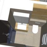 nieuwe badkamer in kleine woning
