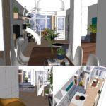 3D visualisatie ontwerp definitief beganegrond met uitbreiding