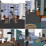 nieuwe woonkamer indeling Klein kadoelen LINDESIGN.AMSERDAM