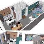 woonkamer keuken ontwerp kleinkadoelen