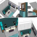 ontwerp masterbedroom Amsterdam Noord