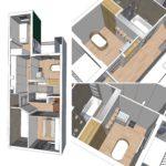 3D visualisatie ontwerp definitief eerste verdieping met uitbreiding