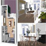 ontwerp zonder uitbreiding Van Ostadestraat Amsterdam